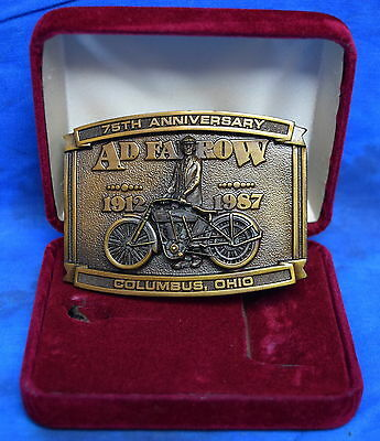 """Brookfield Collectors Guild Harley Davidson Belt Buckle  """"75Th Anniversery """""""