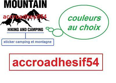 Stickers montagne sticker mountain hiking and camping choix couleur taille