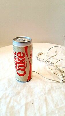 COCA COLA COLLECTIBLE Diet Coke Novelty Phone 1985 Corded Works