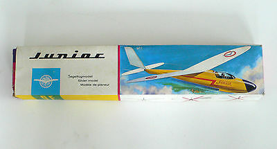 Vintage SCHENK Segelflugmodell JUNIOR Glider Airplane Model OVP 1960's