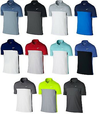 2016 Nike ICON COLOR BLOCK Polo Golf Shirt 725527 - Pick Size and Color