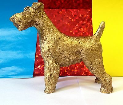 Airedale Fox Terrier bronze figurine exclusive dog art bronze from Russia  dog