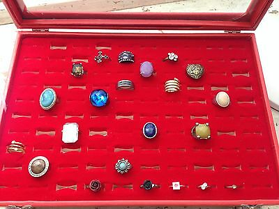 Ring Display Box with Selection of Costume Rings - Start your Collection Here!