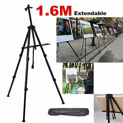 Adjustable Metal Tripod Folding Easel Display Art Sketch Painting Exhibition