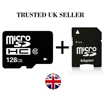 128GB Micro SD Card Class 10 Flash Memory SDHC for Mobiles Laptops Cameras UK