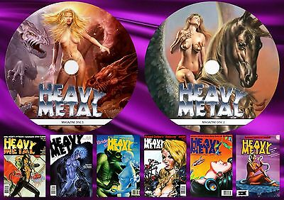 Heavy Metal Magazine On Two Printed Dvd Rom's