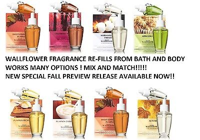New Bath & Body Works Refill Wallflower 2 Pack Scented Plug Ins + Exclusives