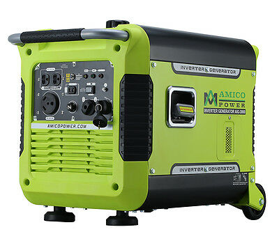 Amico Power 3000 watt 3KW Electric Start Portable Inverter Generator Mobile New
