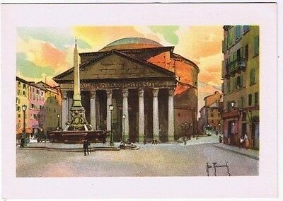 Italy Postcard Rome The Pantheon