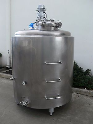 500 Gallon Tank w/ Agitator Mixer Stainless Steel 75 PSI Jacket Insulated