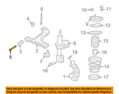 Chevrolet GM OEM Aveo Front Suspension-Lower Control Arm Front Bolt 94501160