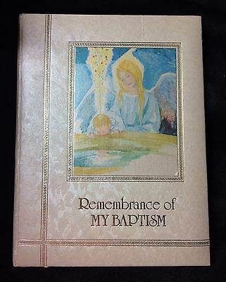 Remembrance Of My Baptism Book Scrapbooking Memories Pictures Baby Illustrated