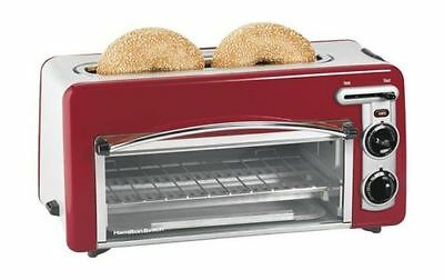 Toaster Oven Red Hamilton Beach Stainless Steel 22703