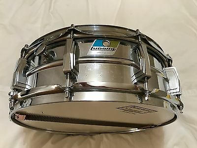 """Ludwig LM400 Supraphonic 14"""" x 5"""" Ludaloy Snare Drum 1978"""
