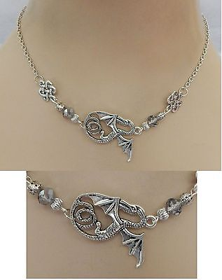 Silver Dragon Strand Necklace Jewelry Handmade NEW adjustable Accessories