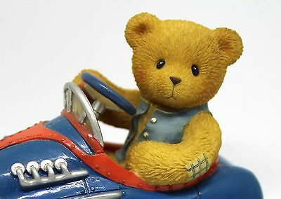 Enesco Cherished Teddies Figurine Ken You Make My Heart Race Blue Hot Rod Car