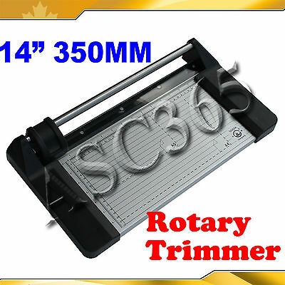 Brand New 14In 350mm Rotary Photo Vinyl Paper PVC Cutter Portable Trimmer