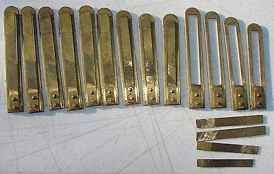 13 Sub Base Large Brass Pump Organ Reeds with Damage Antique Used Parts Repair