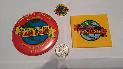 Country Music International Fan Fair Collectibles Vintage 1980s (3 items)