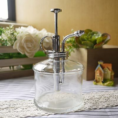 Purism Style Clear Glass & Brass Gardening Planting Mister Chrome Water Sprayer