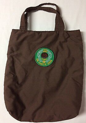 Homemade Youth Brown Book Bag Satchell Girl Guide Brownie Badges Hand Straps