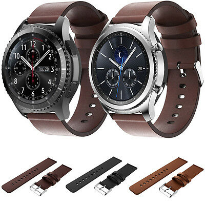For Samsung Gear S3 Frontier/Classic Genuine Leather Watch Strap Bracelet Wrist