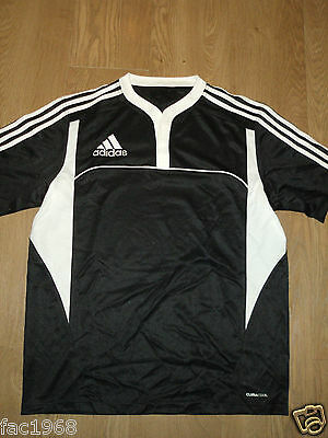 Adidas Climacool Boy's Junior Rugby Top Jersey Black White L 14/15 Years New