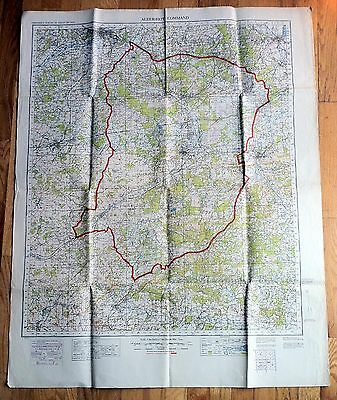 Original WWII Poster ALDERSHOT COMMAND: CONVEYANCE SURVEY OF GREAT BRITAIN