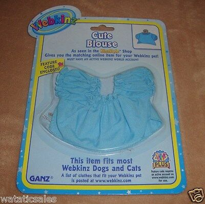 Webkinz Pet Clothing Cute Blue Blouse Dogs & Cats Ganz New in package