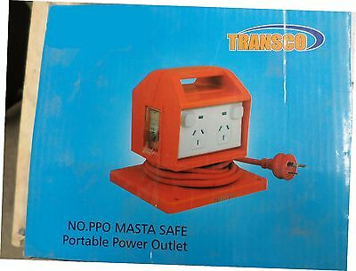 Transco, Masta Safe - 4 Way 10Amp Residual Current Device (RCD) 4x Socket Outlet