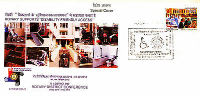 India Special Cover On Rotary Supports Disability Friendly Access #af3