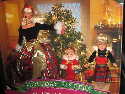 1998 HOLIDAY SISTERS  Barbie, Stacie and Kelly Giftset #19809 NRFB