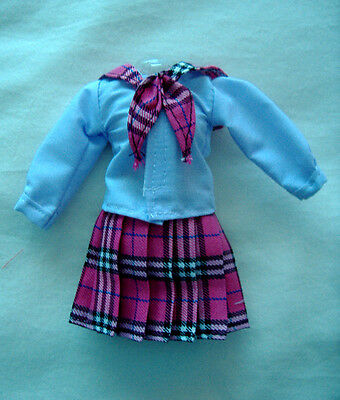 Manga Schoolgirl Barbie Doll Outfit (Pink/white)