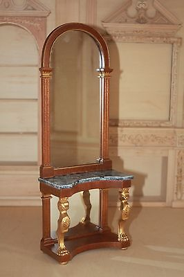 1/6 th scale carved hall table with mirror JBM Blythe Barbie Fashion