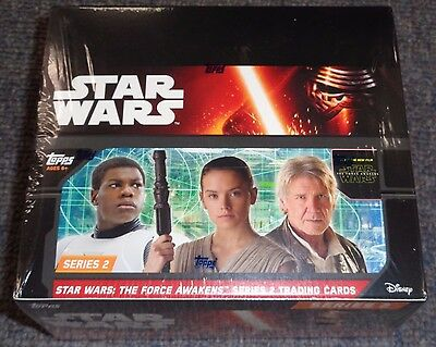 Star Wars The Force Awakens Series 2 Trading Cards Box -SEALED 24 Packs!