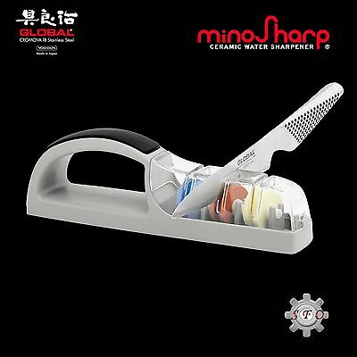 Global Minosharp Plus 3 Stage Ceramic Water Knife Sharpener For Asian Knives