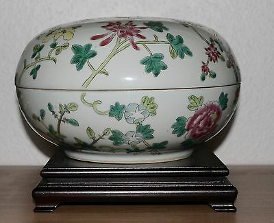 China 20. Jh. Great Chinese Porzellan famille rose Hat Box sehr große Dose