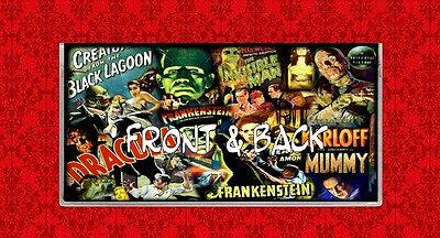 Dracula Frankenstein Horror Movie Vintage Wolfman Vinyl Checkbook Cover