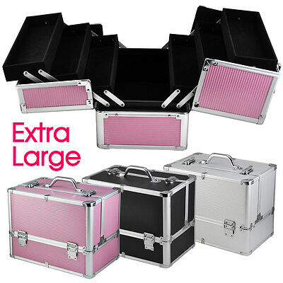 Extra Large Space Vanity Case Beauty Box Make up Jewelry Cosmetic Nail Storage
