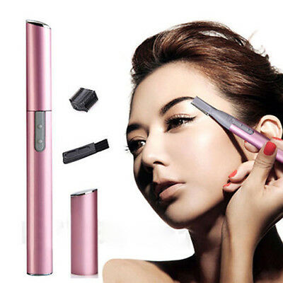 Men Women's Lady Face Hair Electric Eyebrow Trimmer Shaver Remover Razor Set INS