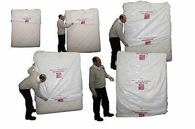 Plastic Double King Mattress Cover Protector Polythene Bag Storage Moving House