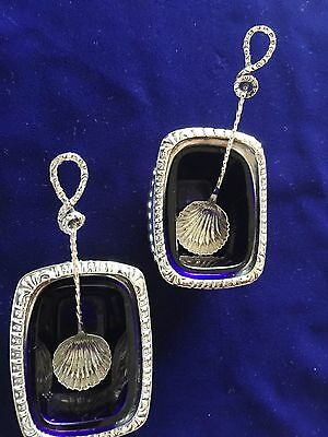 Solid Silver Salts & Solid Silver Spoons - Minshull & Latimer - George Unite