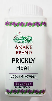 Snake Brand Prickly Heat - Lavender Variety Cooling Powder Handy 50G Travel Pack