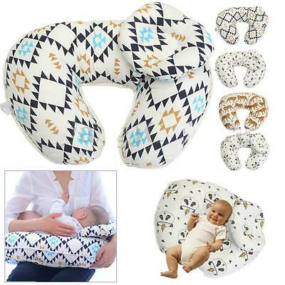 Baby Mum Breast Feeding Pillow Support Cotton Cover Nursing Maternity Gift FW