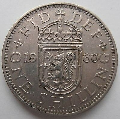 1960 One Coin Of 1 Shilling Coin Queen Elizabeth Ii, Collection, Gift