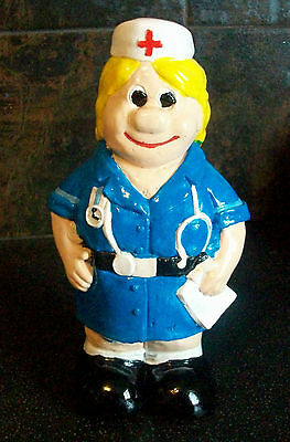 New  A Lady Nurse Solid Garden Ornament. Hand Made & Painted