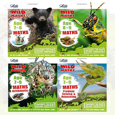 Letts Wild About Series Maths Collection 4 Books Set By Letts KS2 New (Age 7-9)