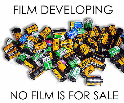 C41 35mm Film developing only *£2.00* READ DESCRIPTION FIRST-SEND US YOUR FILMS