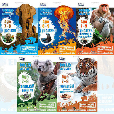 Letts KS2 English Collection 5 Books Set Letts Wild About Series Age 7-9 New