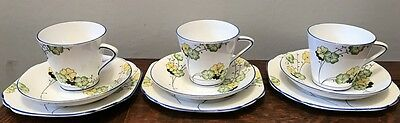 Art Deco trios - Stanley China Hand painted